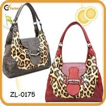2012 Lady's Fashion Leopard Crocodile Print Handbag