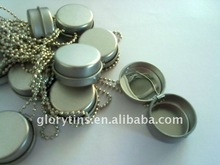 Round balm tin box