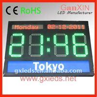 electronic digital time led world clock