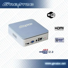 Intel atom d525 mini pc mini desktop computer support 1080P playing