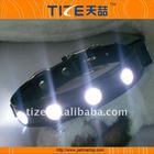 Black leather dog leash and collar Led TZ-PET1096