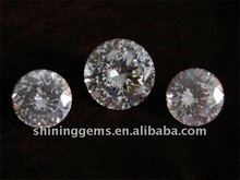 fancy beauty round shape white cubic zirconia stone
