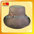 2012 mulheres novo estilo de tecido preto de algodão moda disquete chapéu com tecido auto band e fivela de madeira
