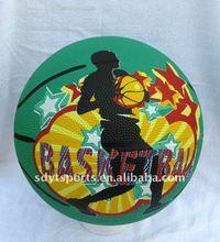 size 7/6/5/3 rubber basketball, common basketball
