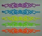 hollow plastic bracelet silicone rubber bands