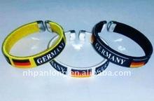 fashion olympic Germany flag team braided newest bracelet colorful woven bracelets