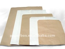 White,Natural Kraft, and Oatmeal flat merchandise paper bags