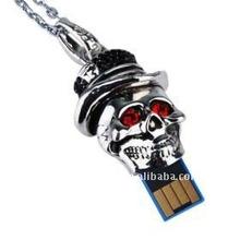 Happy jack metal skull pendant usb flash drive 4 gb