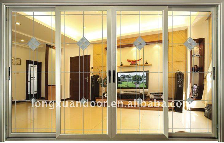 Porte coulissante de salon portes id du produit 512062668 - Porte coulissante salon ...