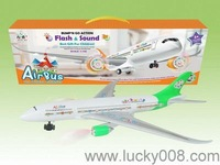 b/o airbus,electric toy vehicle,flash/sound airplane