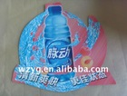 PVC/PP supermarket drinking price card /plastic drinking display card