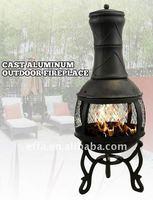 Cast Iron Outdoor Fireplace & Wood Chiminea