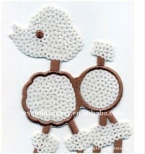 Lovely sheep sequins embroidery design patches for clothes/clothing