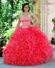 SJ1027 red good quality wedding dress 2011