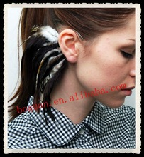 2012 Feather fashion studs and spikes earring cuff