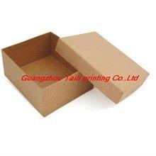 handmade kraft paper gift box,lid and tray box