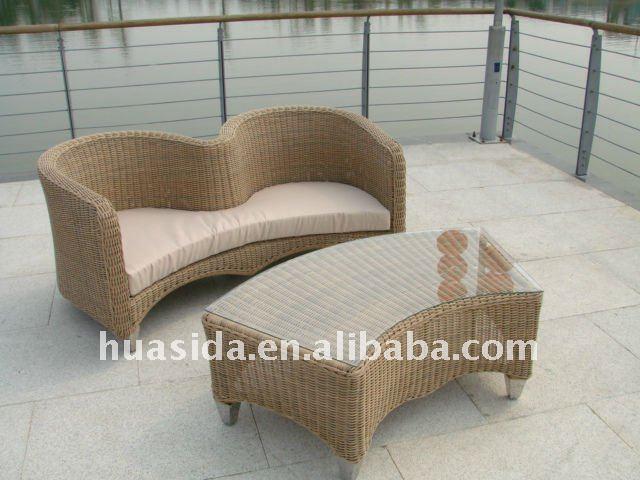 Outdoor Furniture Rattan Lover Sofa Set sex sofa chair