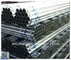 BS1387 Galvanized Steel Pipe /Hot dipped Galvanized Steel pipe / with coupling , threaded / pvc caps/Q235material