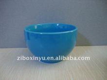 """8"""" size Blue color glazed ceramic bowl for promotion"""