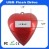 2-8GB red heart plastic usb hard drive