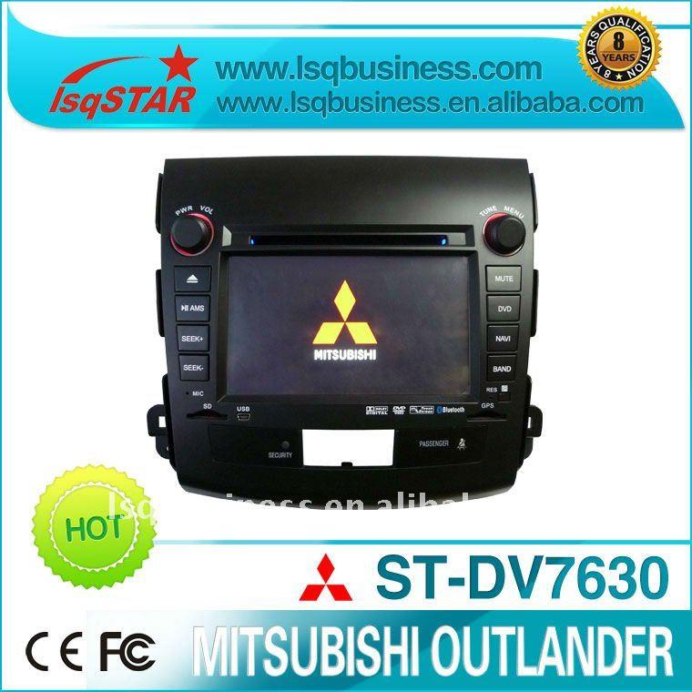 มิตซูบิชิoutlanderรถเครื่องเล่นดีวีดีที่มีระบบนำทางgpsและบลูทูธ