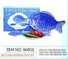 S6803 3PCS Melamine FISH SERVING TRAY SET