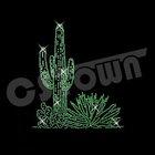 Stock cactus design motif iron on rhinestone transfer
