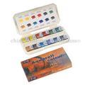 Acqua di colore solido in scatola di plastica - pittura ad acquerello da acquerello solido fornitore