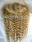Beautiful Blond Hair Afro Style Lace Frontal