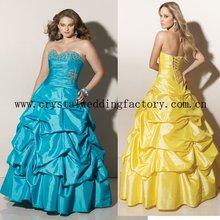 2012 beaded sweetheart appliqued taffeta floor length plus size prom dresses CWFap3535