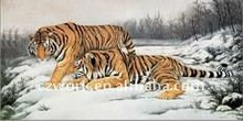 Tigers embroidery tapestry with clearer and sharper images