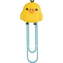 Cute animal shape Soft PVC rubber paper clip bookmarker