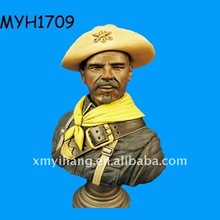 2011 new fashion polyresin Buffalo soldier bust