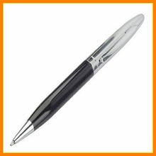 clip&tip shining chrome metal ballpoint pen