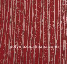 0.07mm Red Tree Skin alike PET color film