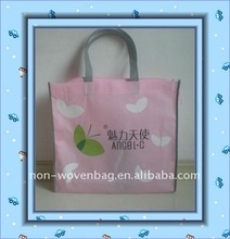 With zipper / handle /printing four color silk printing ECO bag