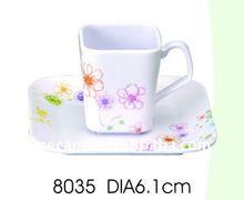 8035 DIA6.1cm Melamine CUP&SAUCER 65+72G