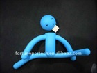 DIY fancy and funny rubber human shape usb pen drive