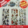 GUARANTEED100%+(7*17CM)MAWA&BEAR PUFFY/FOAM/STICKER+FREE CUSTOMER LOGO SPONGE STICKER