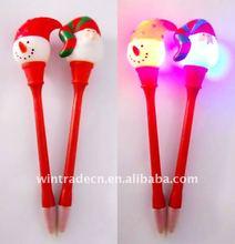 Novelty Christmas Flashing Ball Pen