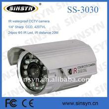 "420TV line 1/4"" Sharp CCD IR waterproof CCTV camera with 20M IR distance"