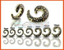 Acrylic Ear Spiral Piering Stretchers Logo Spiral Stretchering Piercing Resin Ear Taper Ear Stud