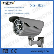 "420TV line 1/4"" Sharp CCD IR waterproof camera with 25M IR distance,CCTV camera"