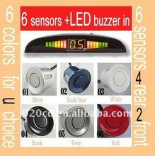 Car LCD Display 6 Sensor Parking Reverse Backup Radar
