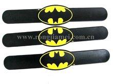 Promotion black color snap bracelets bangles silicone 2012