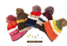 Knitted Children hats/ kids Winter hats/christmas gift(orange)