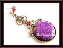 2012 Noble large purple stone victorian style earrings