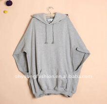 2012 high quality direct manufactory big size CVC plain women fashion pullover hoodies