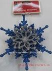 2012 shinny acrylic xmas decoration/ blue snowflake/hanging ornament
