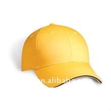 blank light yellow hat, baseball cap